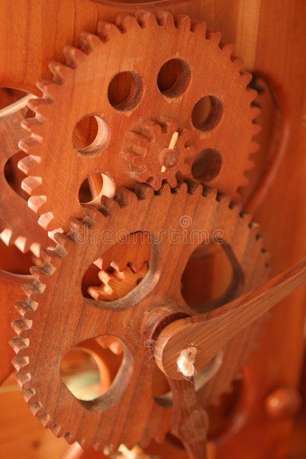 Wooden Gears royalty free stock photos