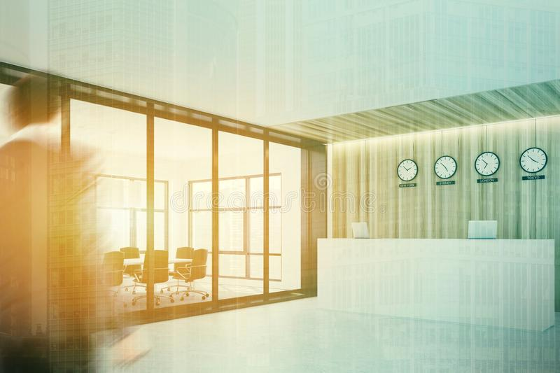 Reception Near A Meeting Room, Toned, Side Stock Image - Image of ...
