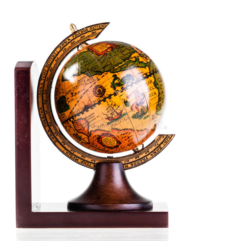 Wooden globe stock photography