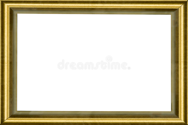 Wooden golden classic frame