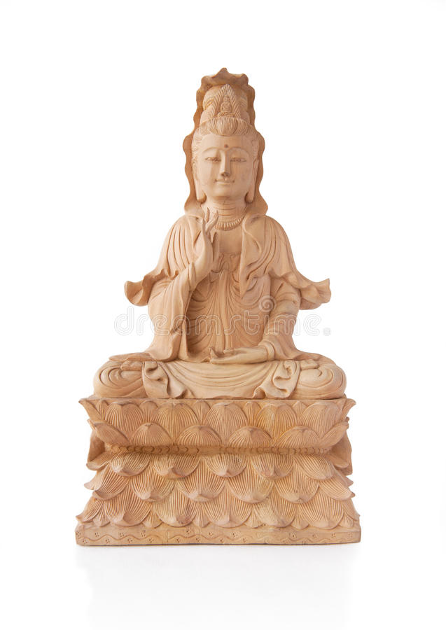 Download Wooden Guan Yin Statue stock image. Image of bright, quan - 23364157