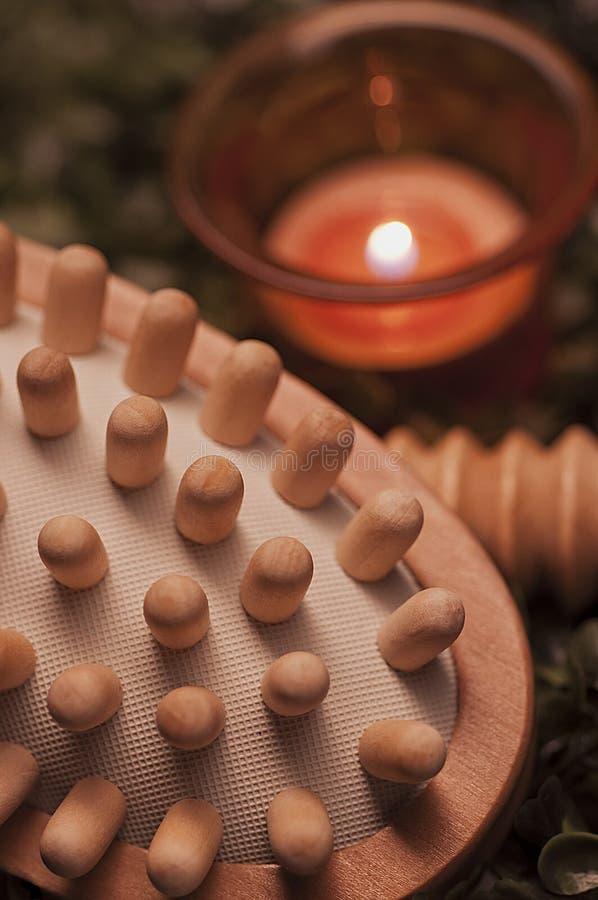 Wooden Hand Massager stock photos
