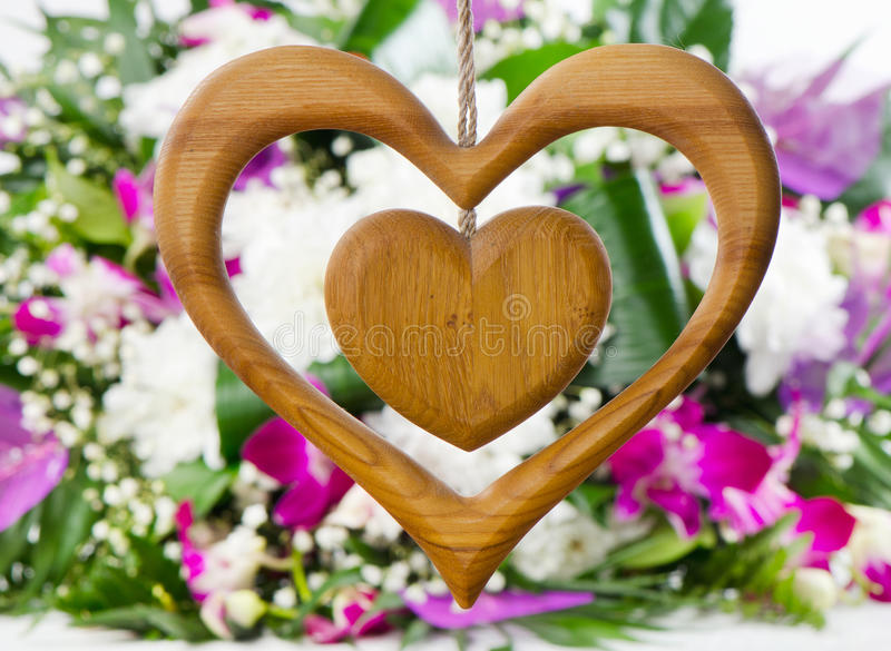 Download Wooden heart stock image. Image of floral, green, holiday - 28680281