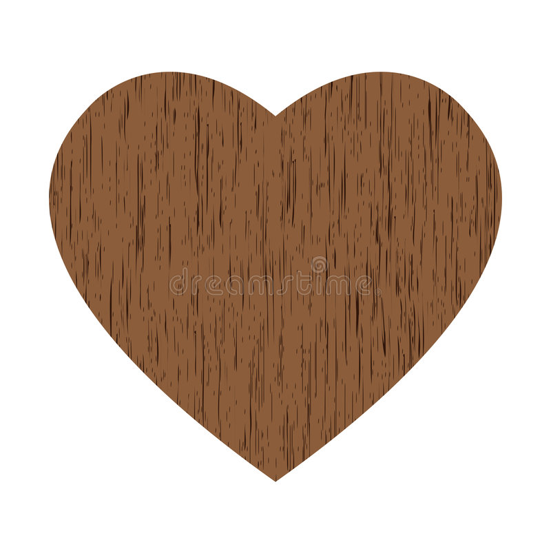 Download Wooden heart stock vector. Image of heart, february, greeting - 7437184