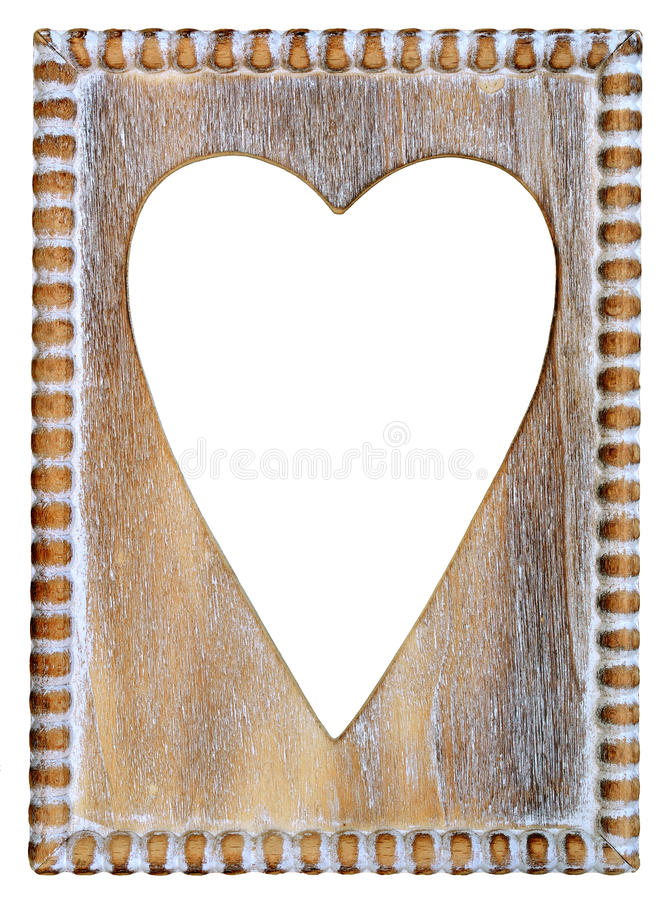Wooden Heart Frame stock image. Image of love, picture - 36281369