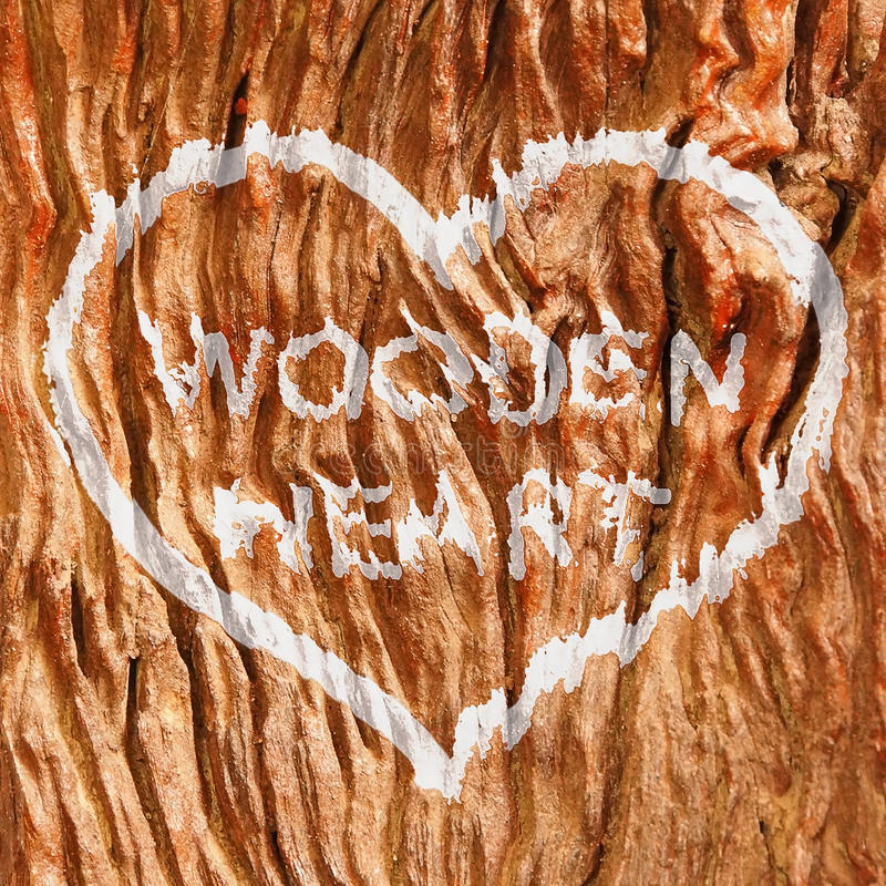 Wooden heart stock image