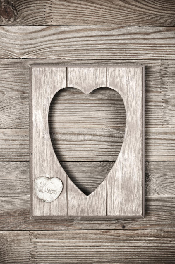 Wooden heart shape frame stock image. Image of simple - 79283125