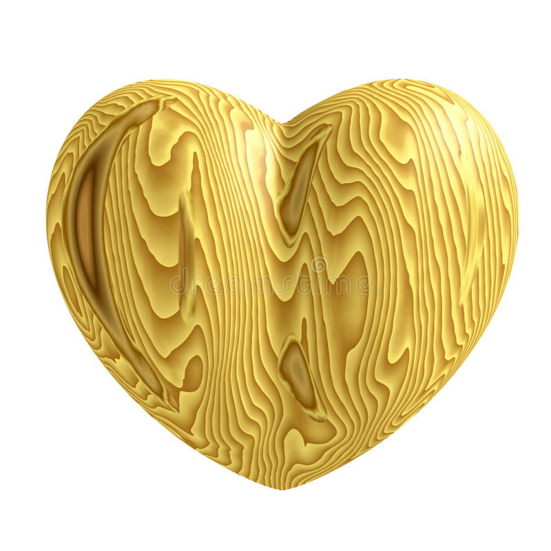 Wooden Heart Symbol Stock Images