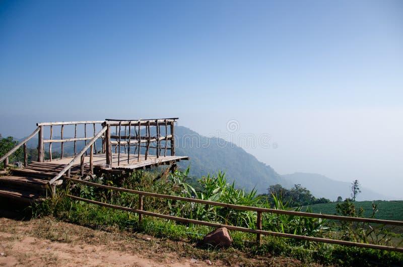 Wooden Hill View Point. In Phu Tabberk, Thailand stock photo