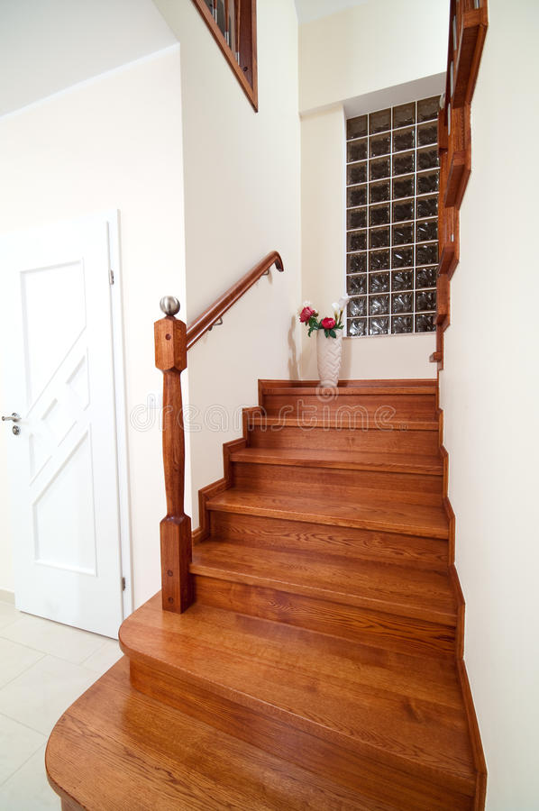 Download Wooden home stairs stock photo. Image of stairs, contemporary - 28529578