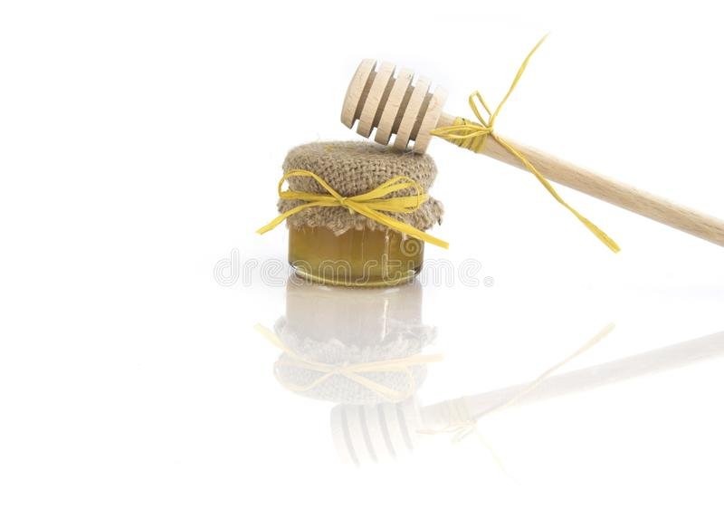 Wooden honey royalty free stock images