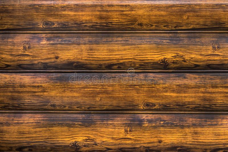 Wooden horizontal burnt batten, center-beaded board, molded boar royalty free stock image