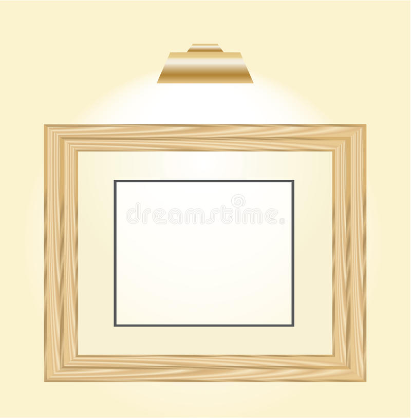 Wooden Horizontal Picture Frame Royalty Free Stock Photos