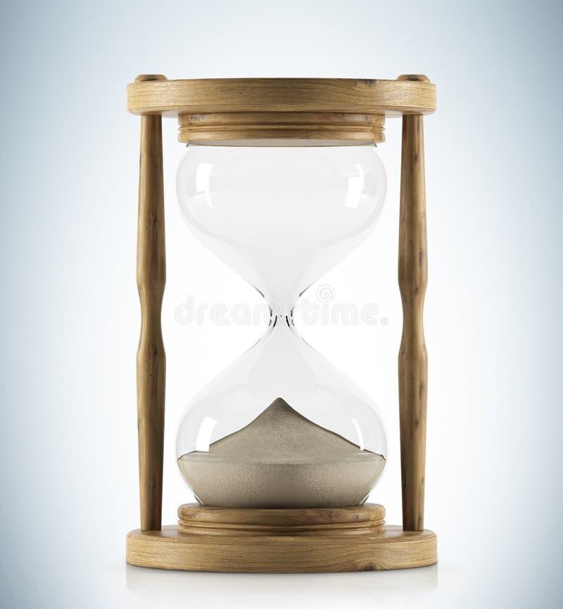 Wooden hour glass vector illustration