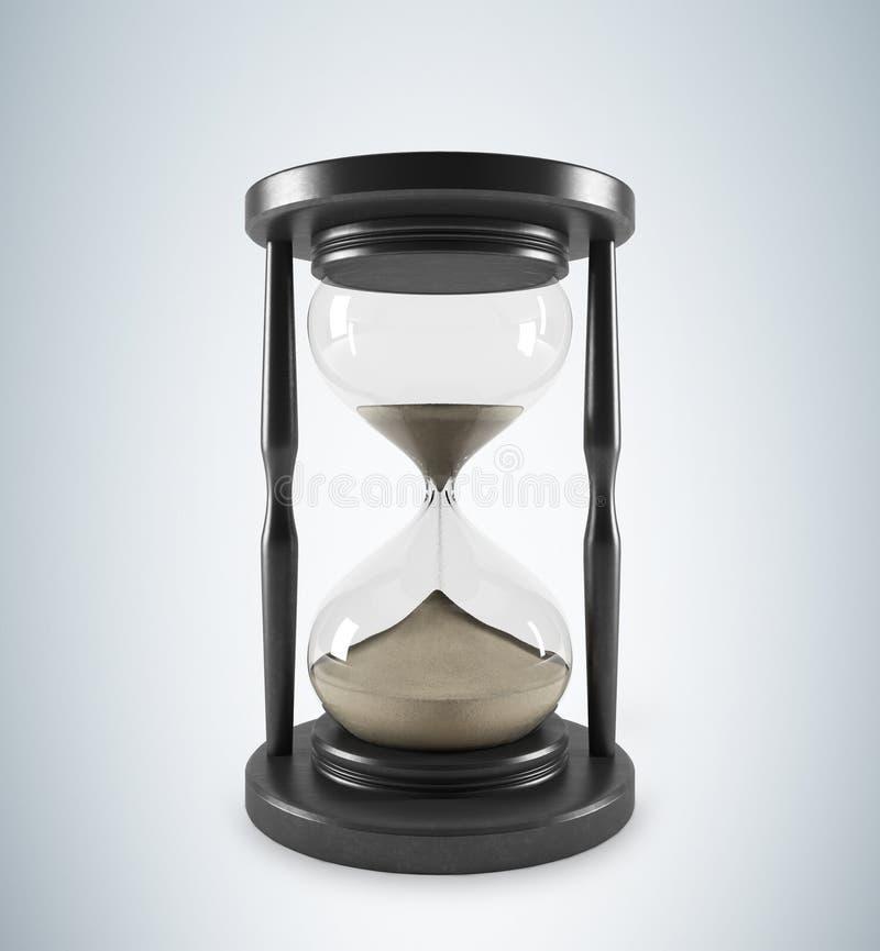 Wooden hour glass stock illustration