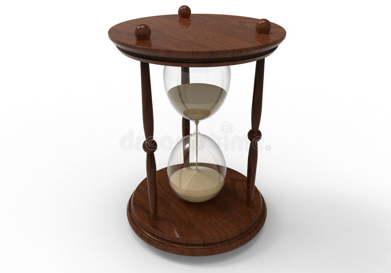 Wooden hourglass stock illustration