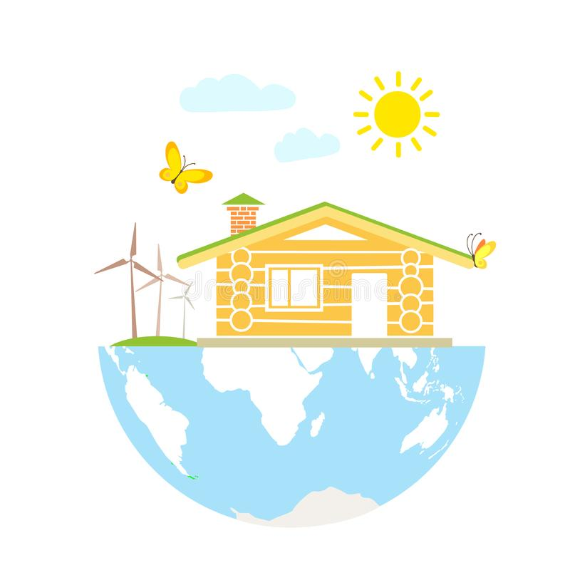 Eco house concept stock illustration