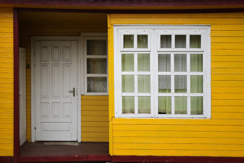 Download Wooden house entrance stock photo. Image of painted, frame - 7223254