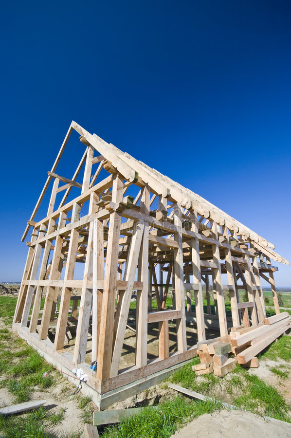 Download Wooden house frame stock photo. Image of frame, country - 4986338