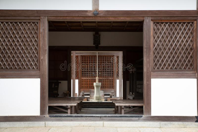 Wooden house in kyoto royalty free stock photo