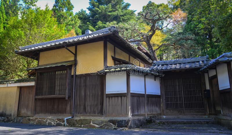 Wooden house in Kyoto, Japan royalty free stock photo