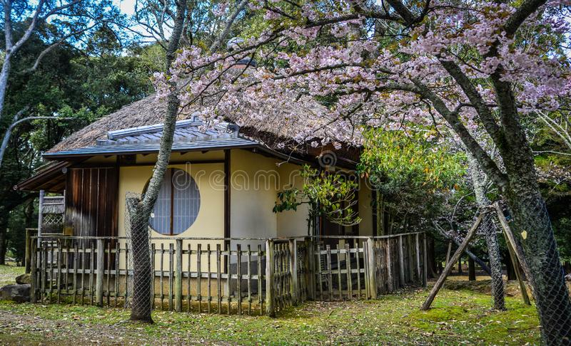Wooden house in Kyoto, Japan stock photo