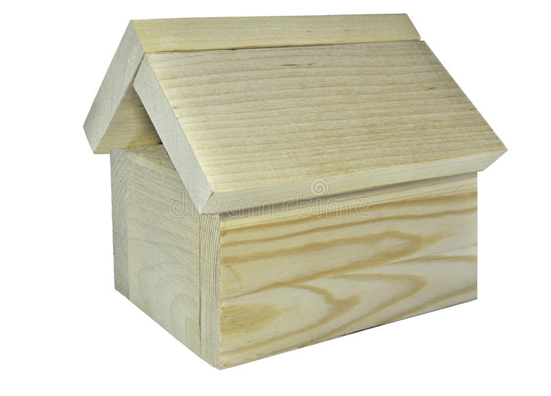 Wooden house model stock photo