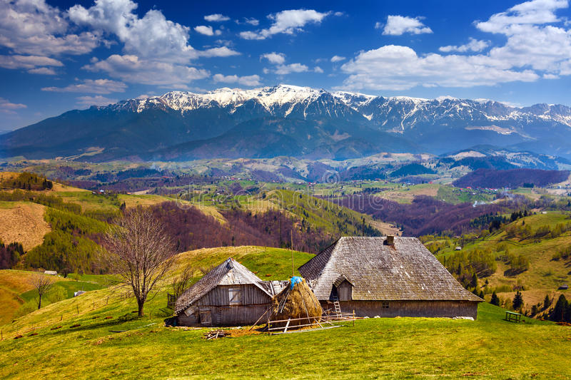 Download Wooden House And Mountains Royalty Free Stock Photography - Image: 24830287