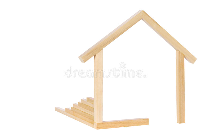 Wooden House Symbol Royalty Free Stock Photography