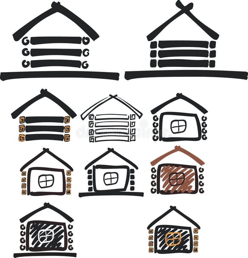 Download Wooden house symbol stock illustration. Image of house - 12650213