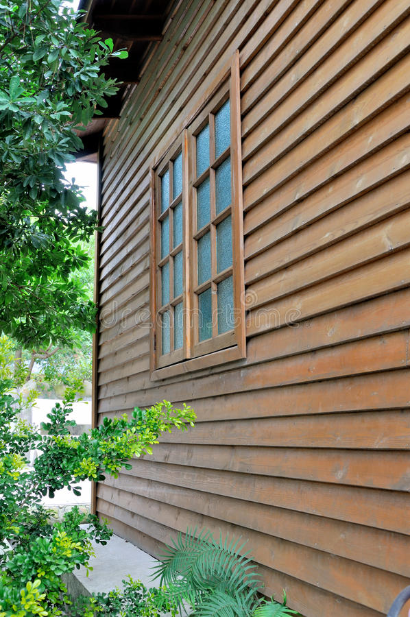 Download Wooden house and window stock image. Image of green, line - 28955437