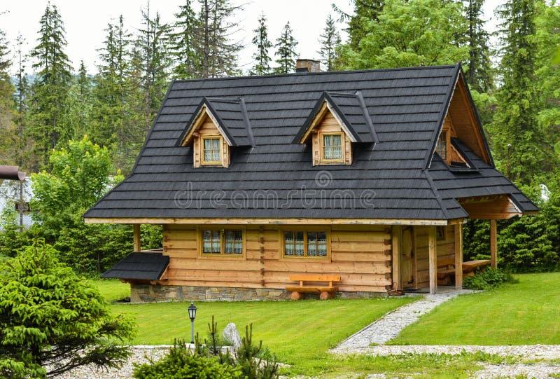 Wooden House In Zakopane Tatra Mountains Stock Photo ...