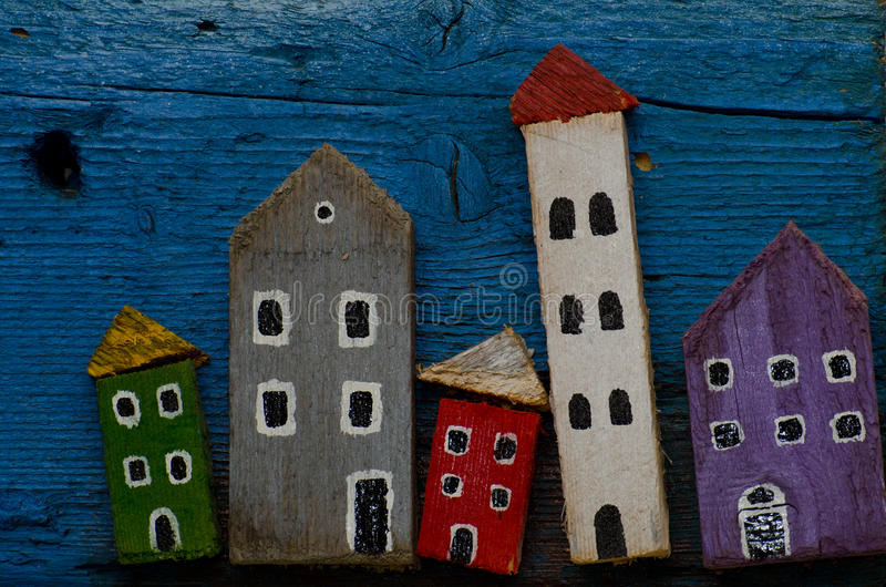 Wooden houses stock images