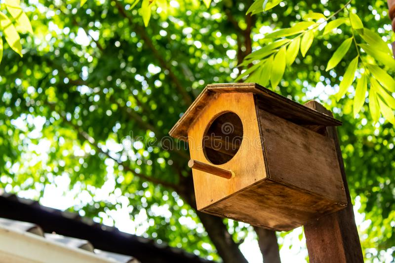 Wooden houses for the birds in your garden decoration. royalty free stock photos