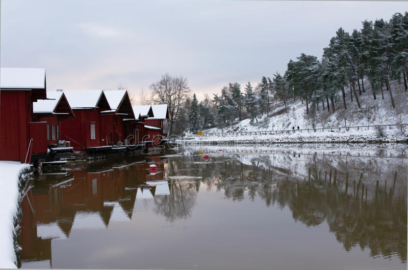 Wooden houses of Porvoo facing river