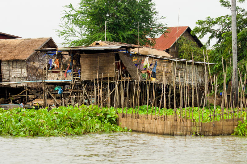 Attractive Download Wooden Houses On Stilts Stock Image. Image Of Mekong   18863025