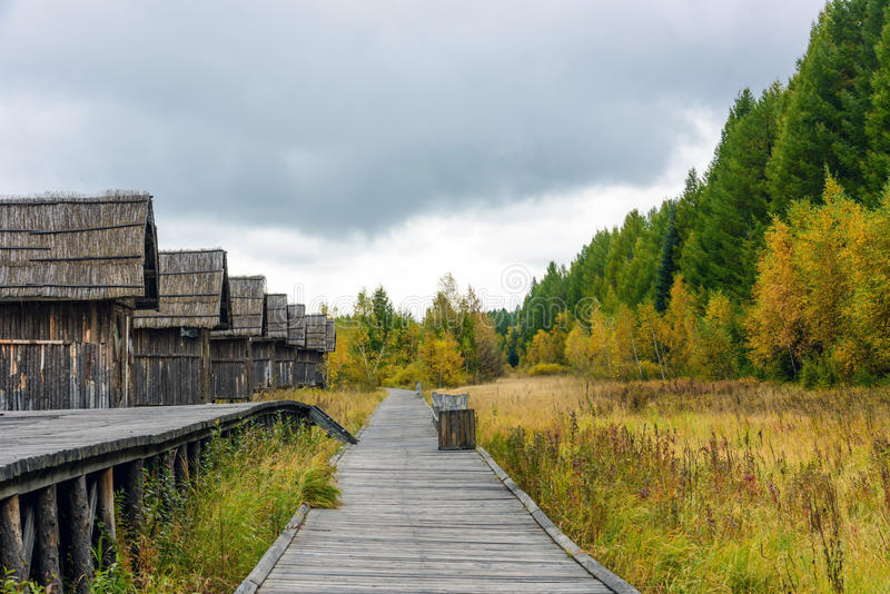 Wooden hut royalty free stock photography