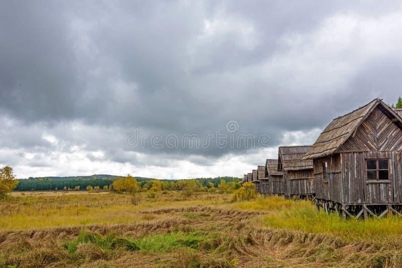 Wooden hut royalty free stock photos