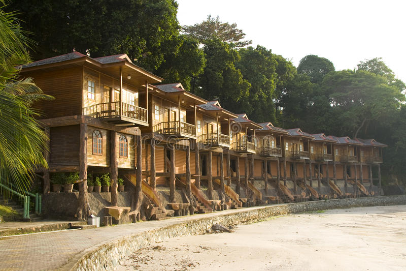 Wooden Huts Stock Photo
