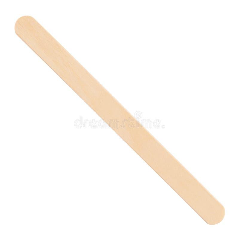 Wooden ice cream stick royalty free stock image