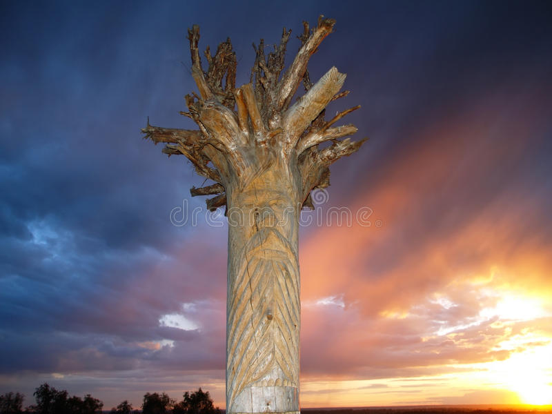 Download Wooden idol stock photo. Image of symbol, protection - 19547248