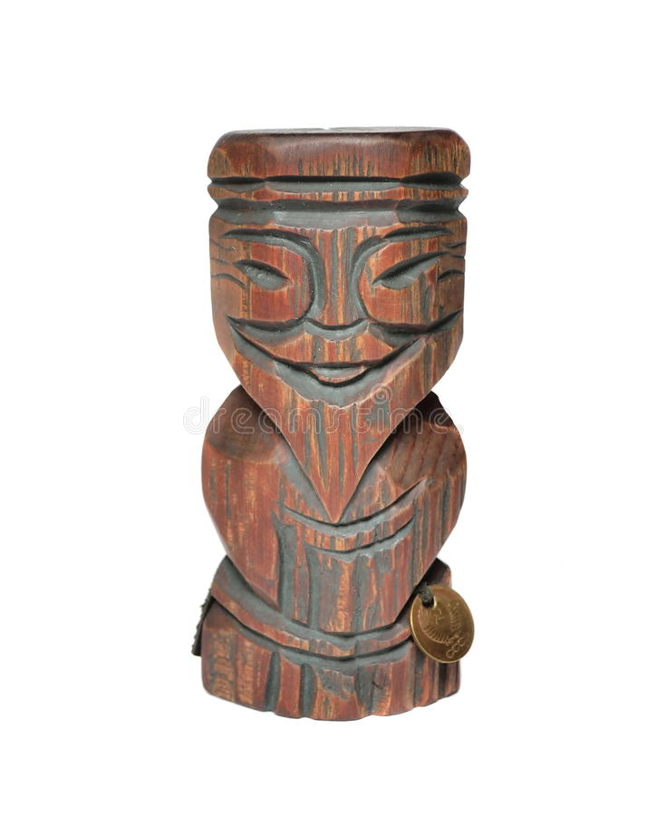 Wooden idol is a symbol of wealth royalty free stock photography