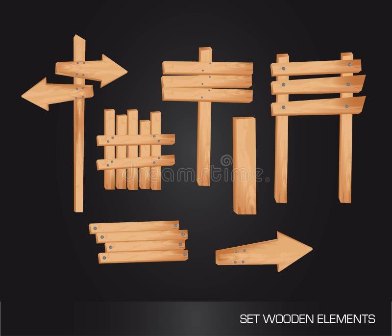Download Wooden indication stock illustration. Illustration of empty - 23095950