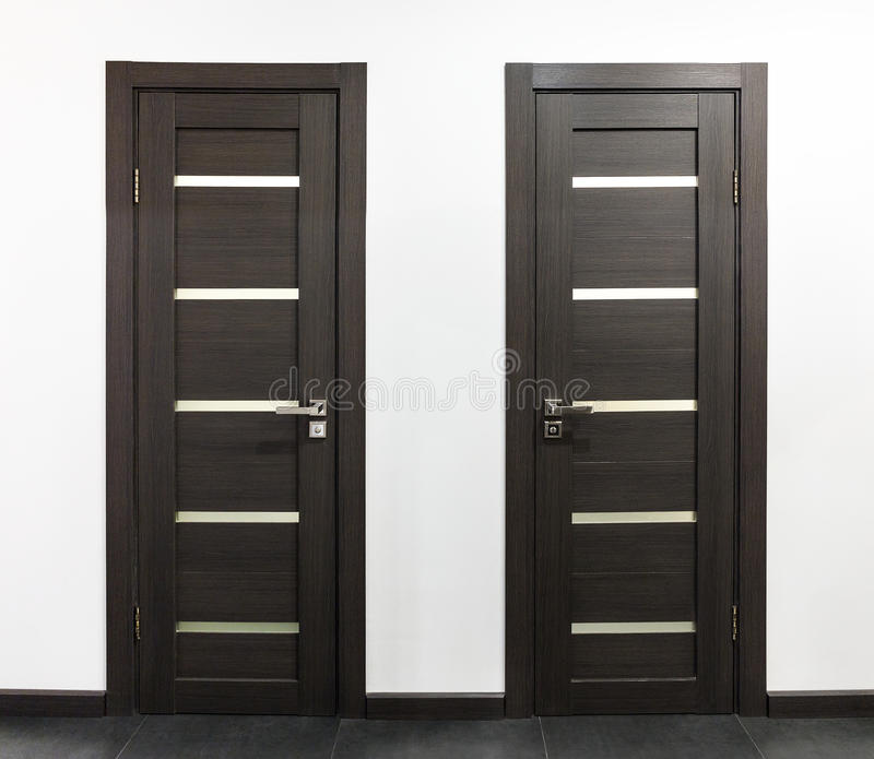 Wooden interior doors stock photo. Image of entrance - 77413150