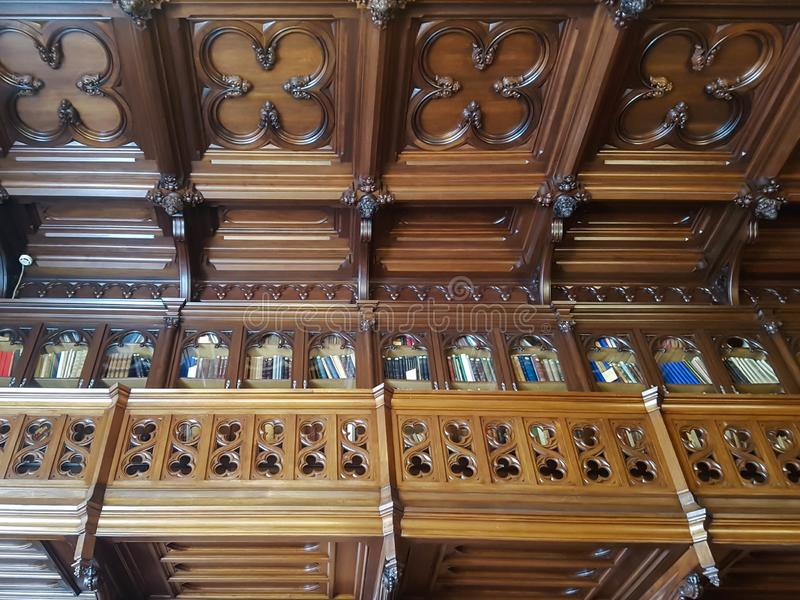 Wooden interior of the library inside the State Hermitage museum royalty free stock image