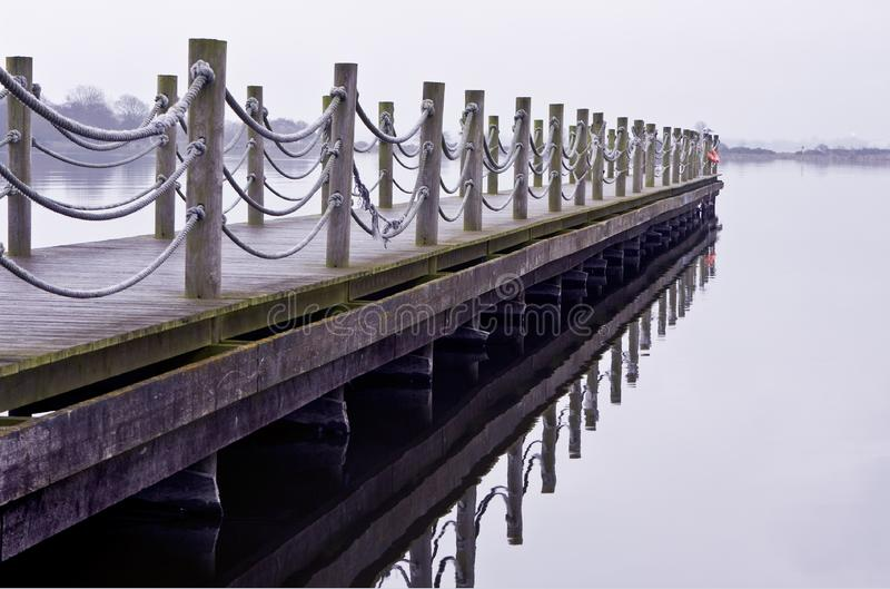 Download Wooden Jetty On A Cold Lonely Morning Stock Image - Image: 8306743