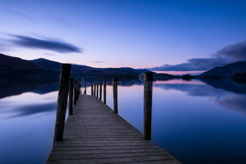 Wooden Jetty At Dusk. stock photography