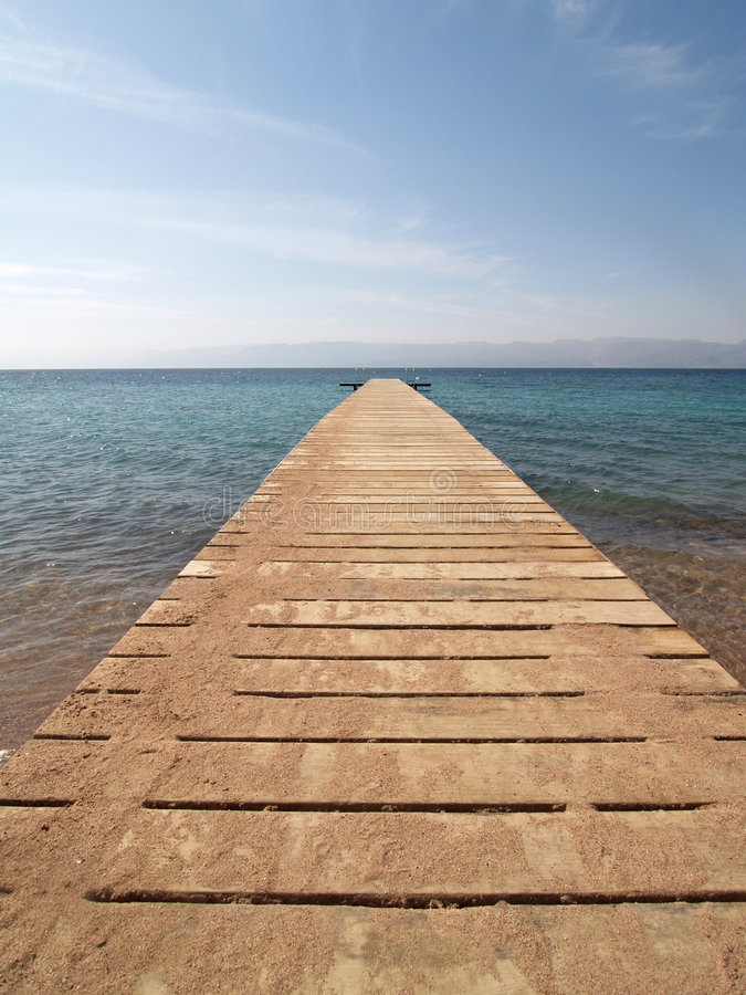 Wooden Jetty Over Sea Royalty Free Stock Image