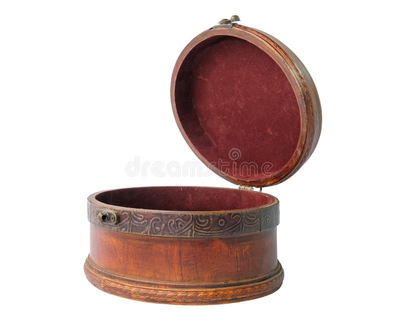 A wooden jewelery box royalty free stock photography