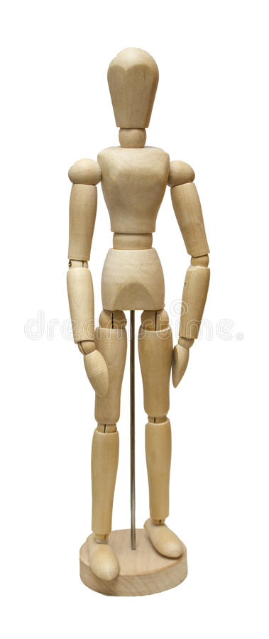 Wooden jointed doll royalty free stock photo